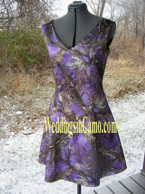 Short Camo Bridesmaid Sleeveless Choose Your Neckline Great For