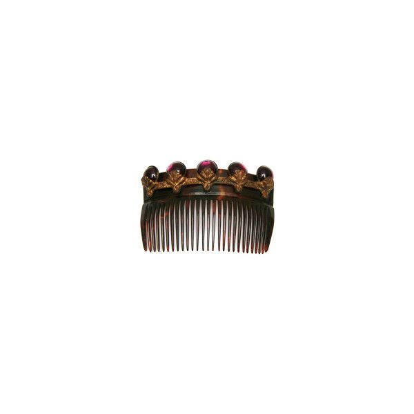 French Celluloid Comb ❤ liked on Polyvore featuring accessories, hair accessories, hair combs, tortoise comb, purple hair accessories, tortoise shell hair combs and tortoise hair combs