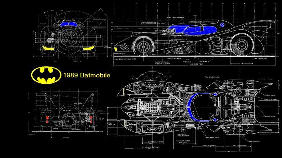 Batmobile blueprint by kharec84 battle cars pinterest batmobile blueprint by kharec84 malvernweather Gallery