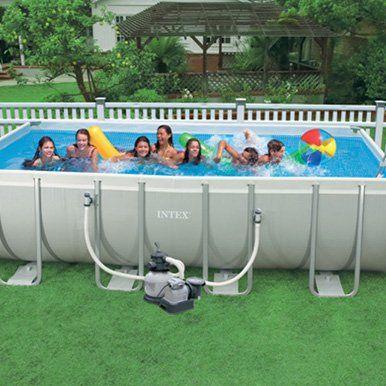 Pin by kori hall reyes on yup rectangle pool above - Ultra frame rectangular swimming pool ...