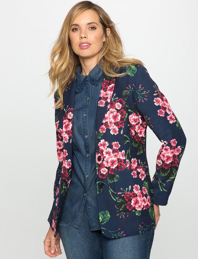 6e1d6f1b92f Floral Crepe Blazer