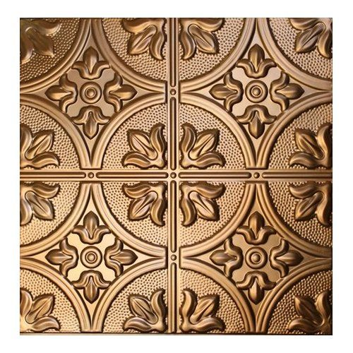 Metalceilingexpress 24x24 Inch Unfinished Nail Up Tin Ceiling Tiles 103 5 Pieces Copper Tin Ceiling Tiles Tuscan Colors Tin Ceiling