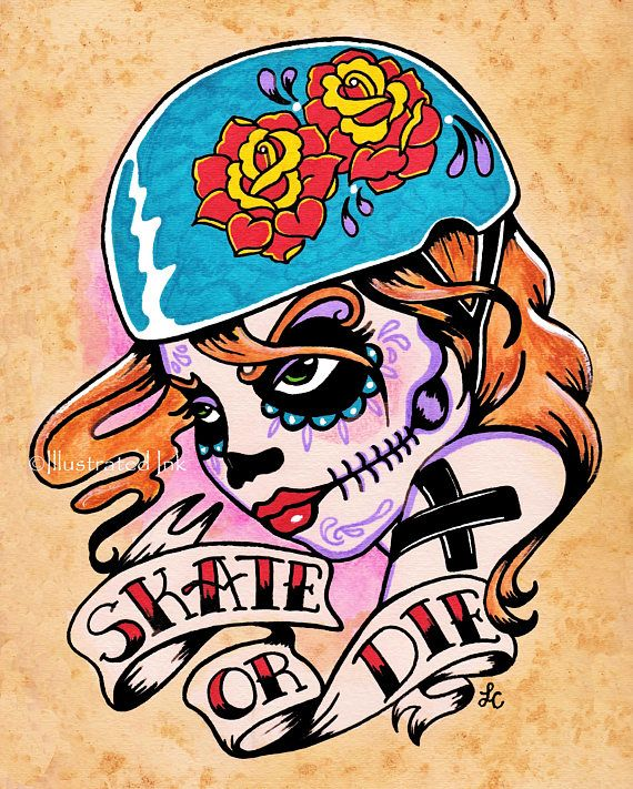 skate or die this die hard roller girl was inspired by roller derby day