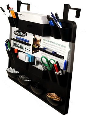 Hanging Organizer Has Wall Mountable Option Or Hooks Over Cubicle