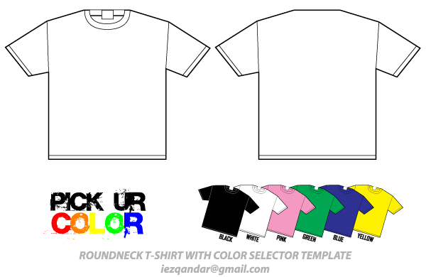 Download Round Neck T Shirt Template Vector Pack Shirt Template Shirts Black Tee Shirts