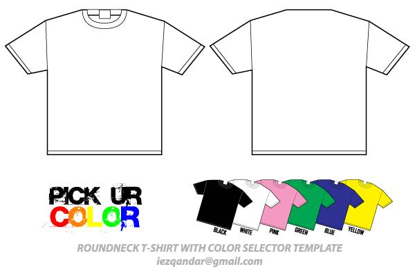 Round Neck T Shirt Template Vector Pack Shirt Template Shirts Black Tee Shirts