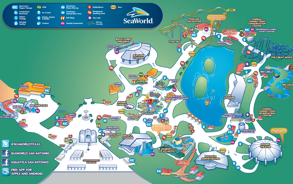 Seaworld Texas Map