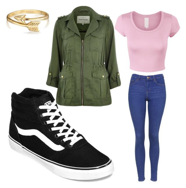 casual by lynette-ledezma on Polyvore featuring polyvore fashion style River Island Topshop Vans Bling Jewelry clothing