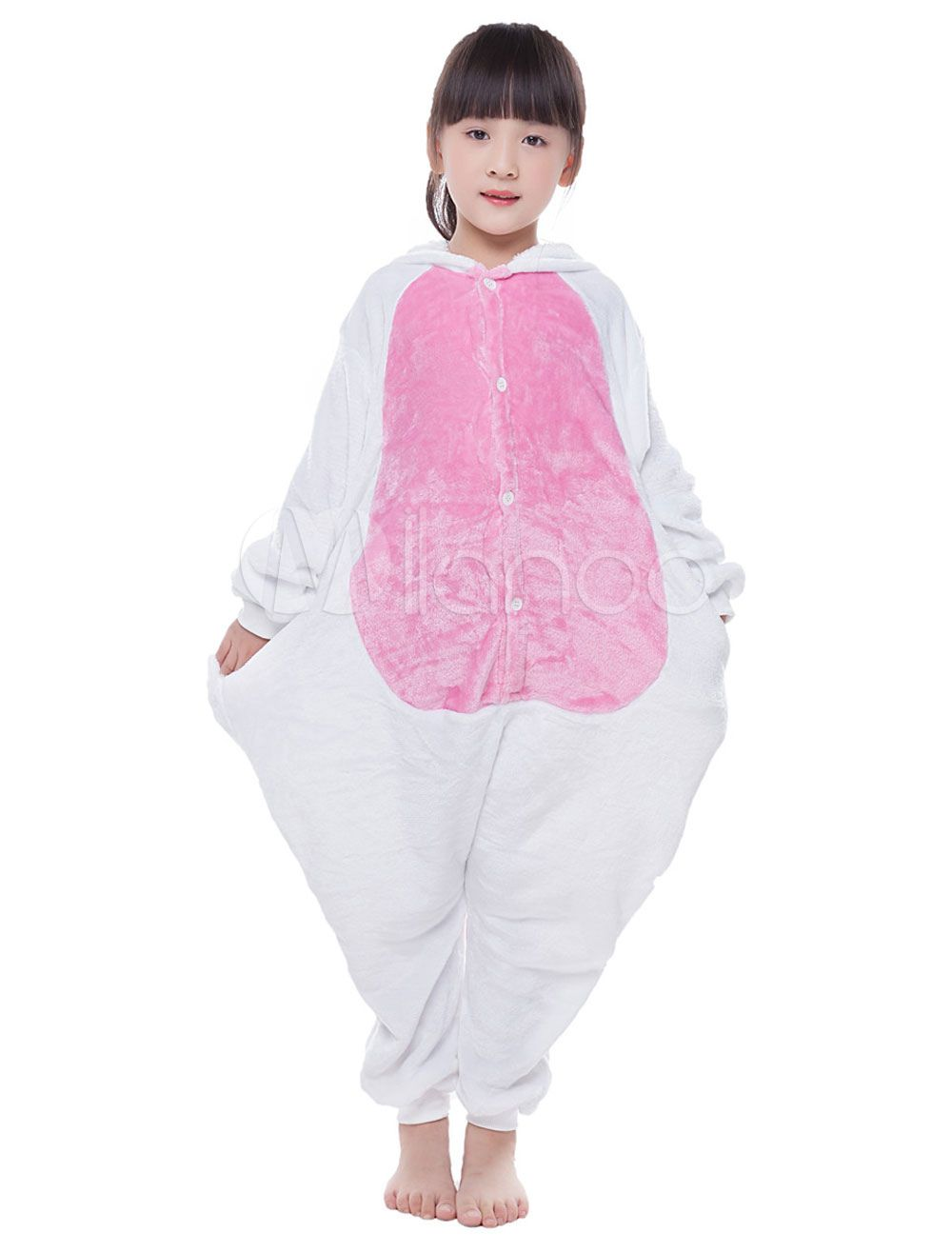 Kigurumi Pajama Licorne Unicorn Onesie For Kids Pink