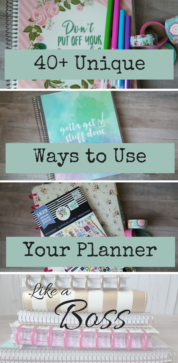 planner uses 40+ ways to use your planner like a boss! via @goodstuffmama
