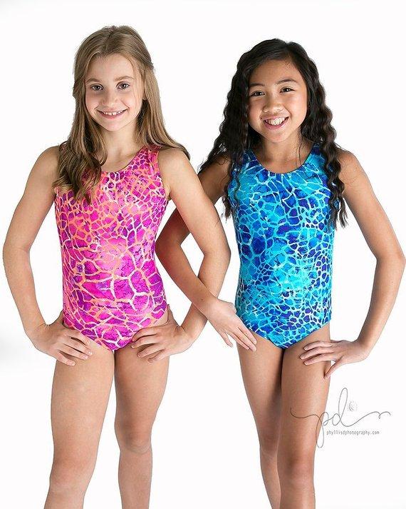 18fa0ae14a91 Girls Gymnastics Leotards Giraffe Pattern in Girls and Womens Sizes ...
