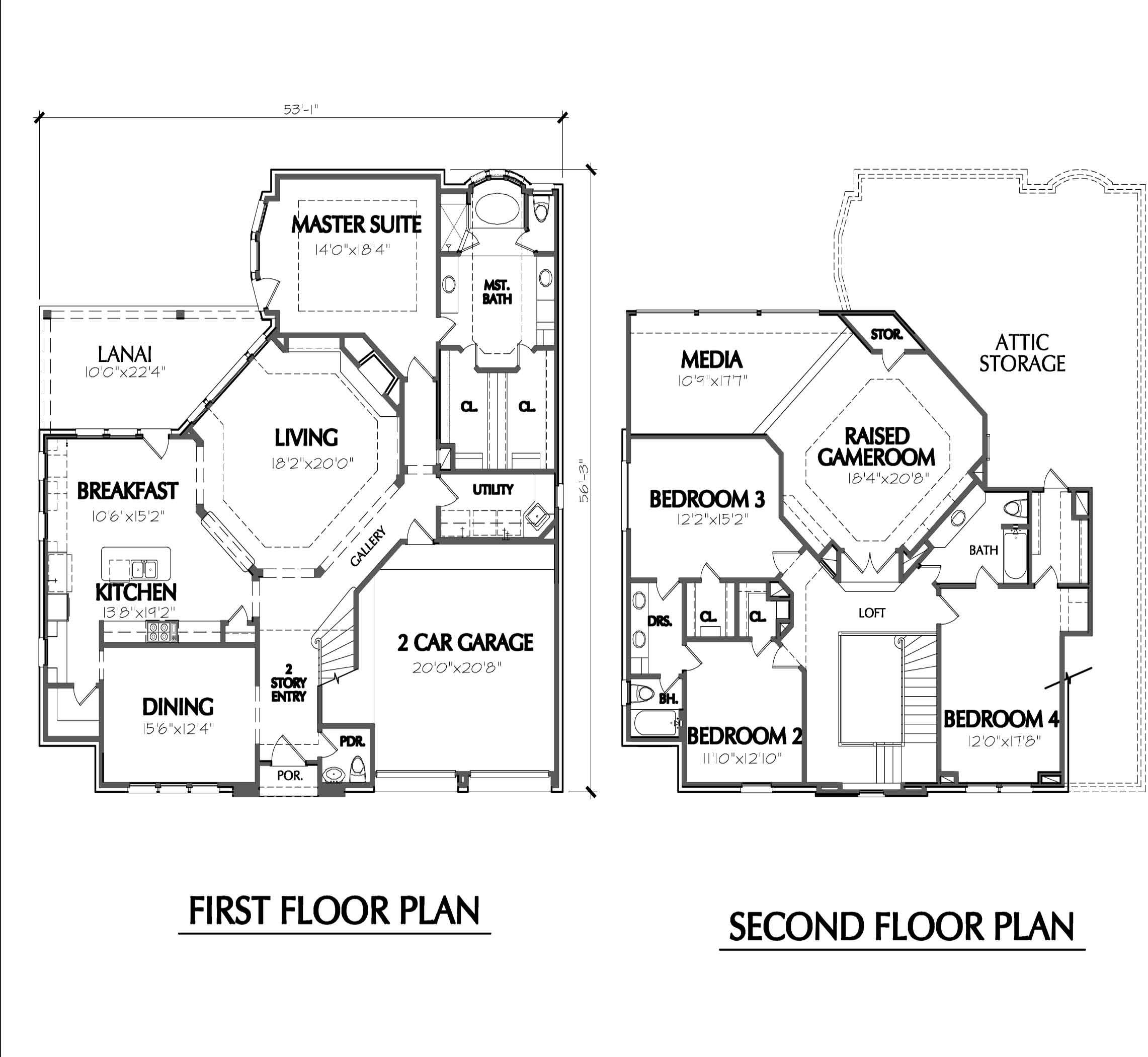 Exceptional House Plans Two Story 4 Two Story House Floor Plans Barndominium Floor Plans Pole Barn House Plans Underground House Plans