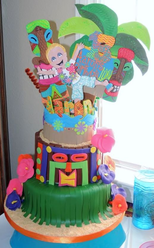 Lyndsey Silva Says The Cake And Topper For My Sons 13th Birthday Luau Hawaii Party