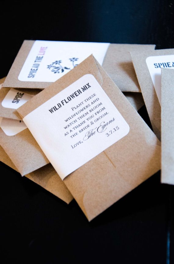 Items similar to personalized wedding or event favors - seed packets - with seeds! on Etsy