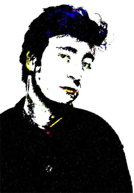 John Lennon. Ask Me Why. Pop Art Print by Melvyn Thomas