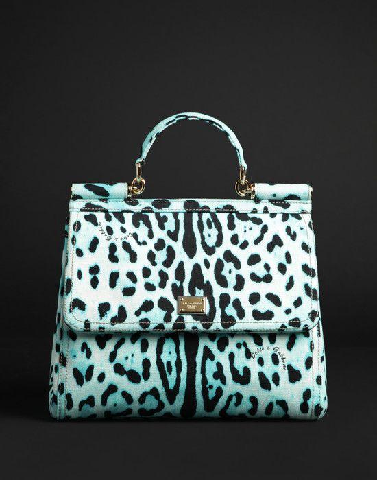 8928c2564c67 Dolce Gabbana Miss Sicily Green Leopard Bag