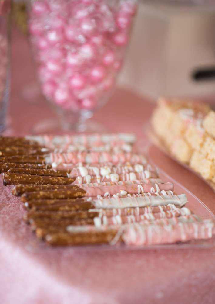 Princess Baby Shower Party Ideas In 2019 Pink And Gold