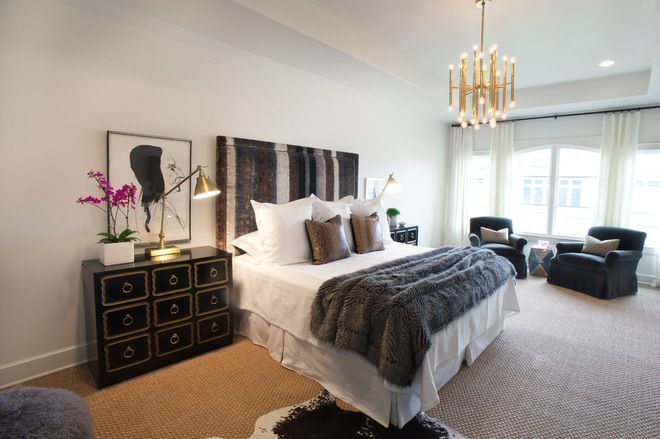 eclectic bedroom by Sally Wheat Interiors bedroom