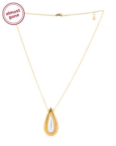 image of made in turkey 24k gold mabe pearl necklace