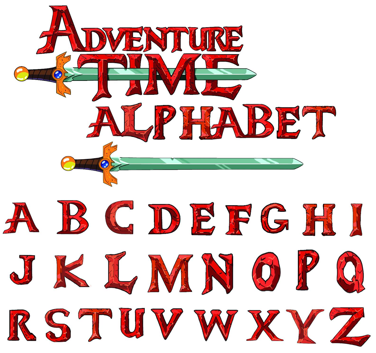 Http Ask Angelo Deviantart Com Art At Font Alphabet 322432506 Adventure Time Adventure Time Printables