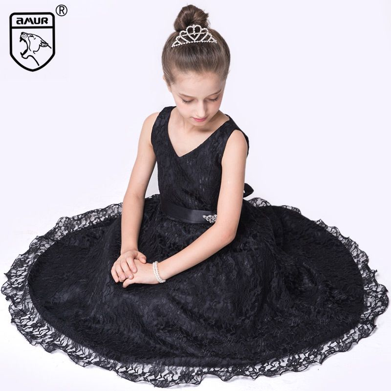 2017 Summer Girls Dress for Wedding Party Princess Kids Clothing ...