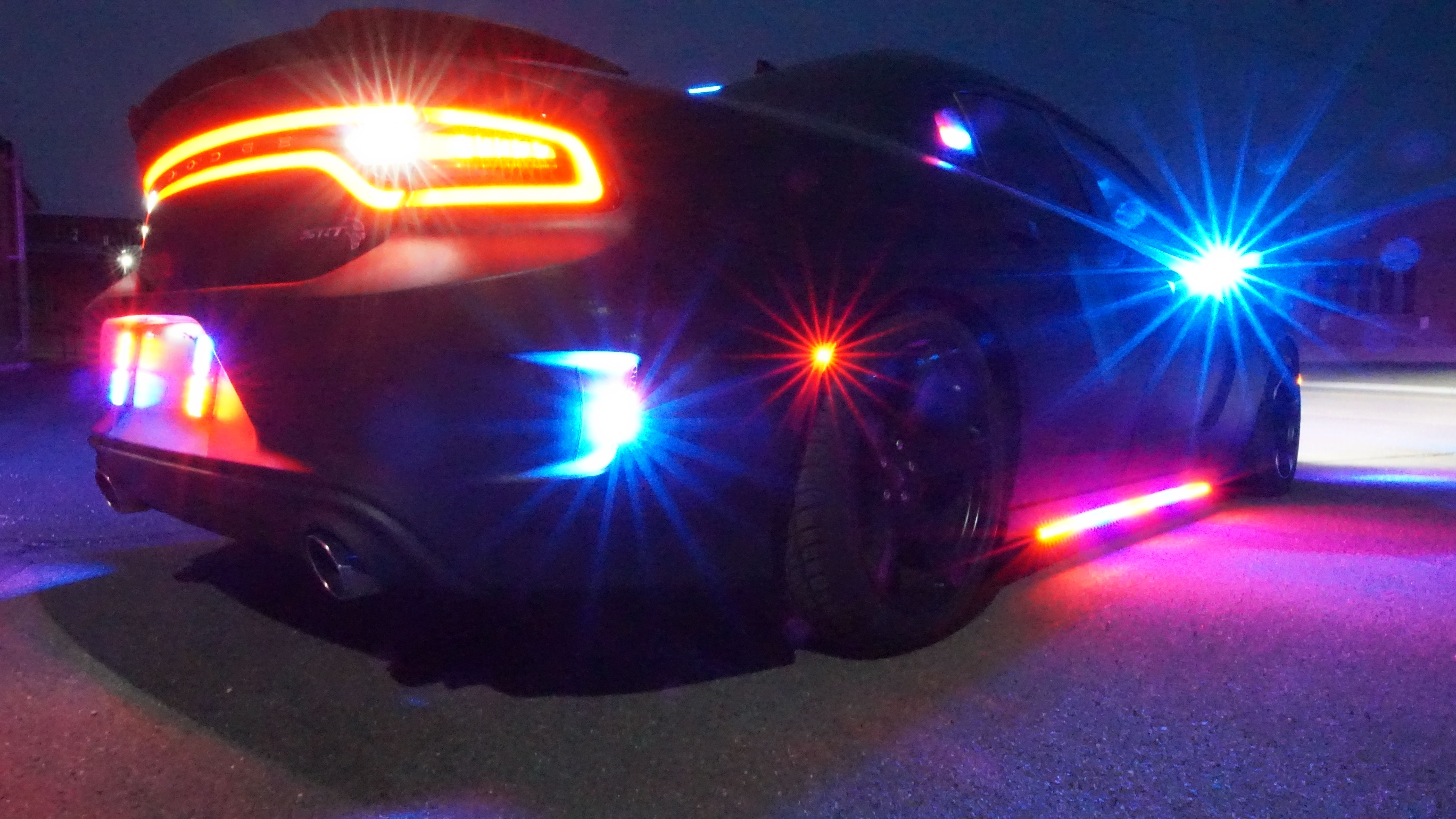 Bulletproof Dodge Charger Hellcat with police lights Armored by Armormax