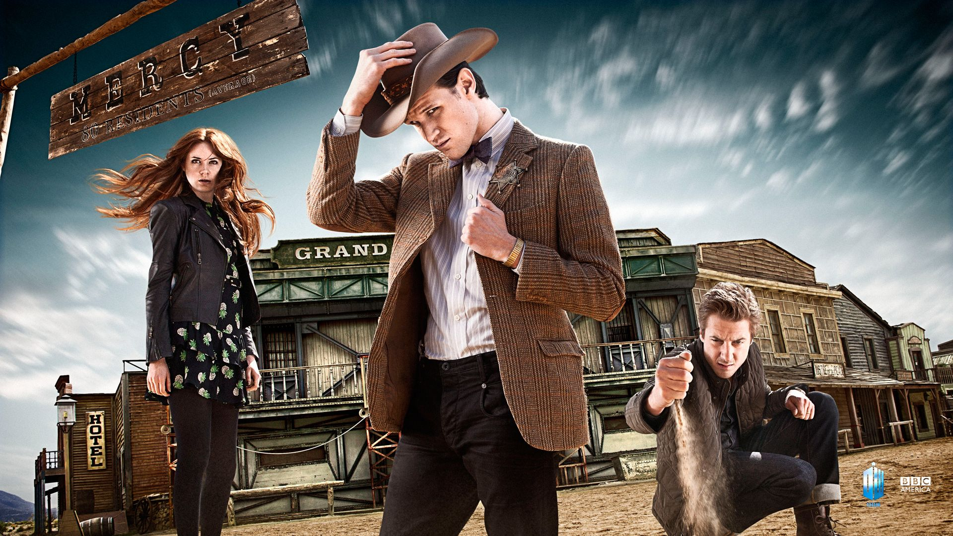 Main Characters From Series 7 Doctor Who Wild West Season