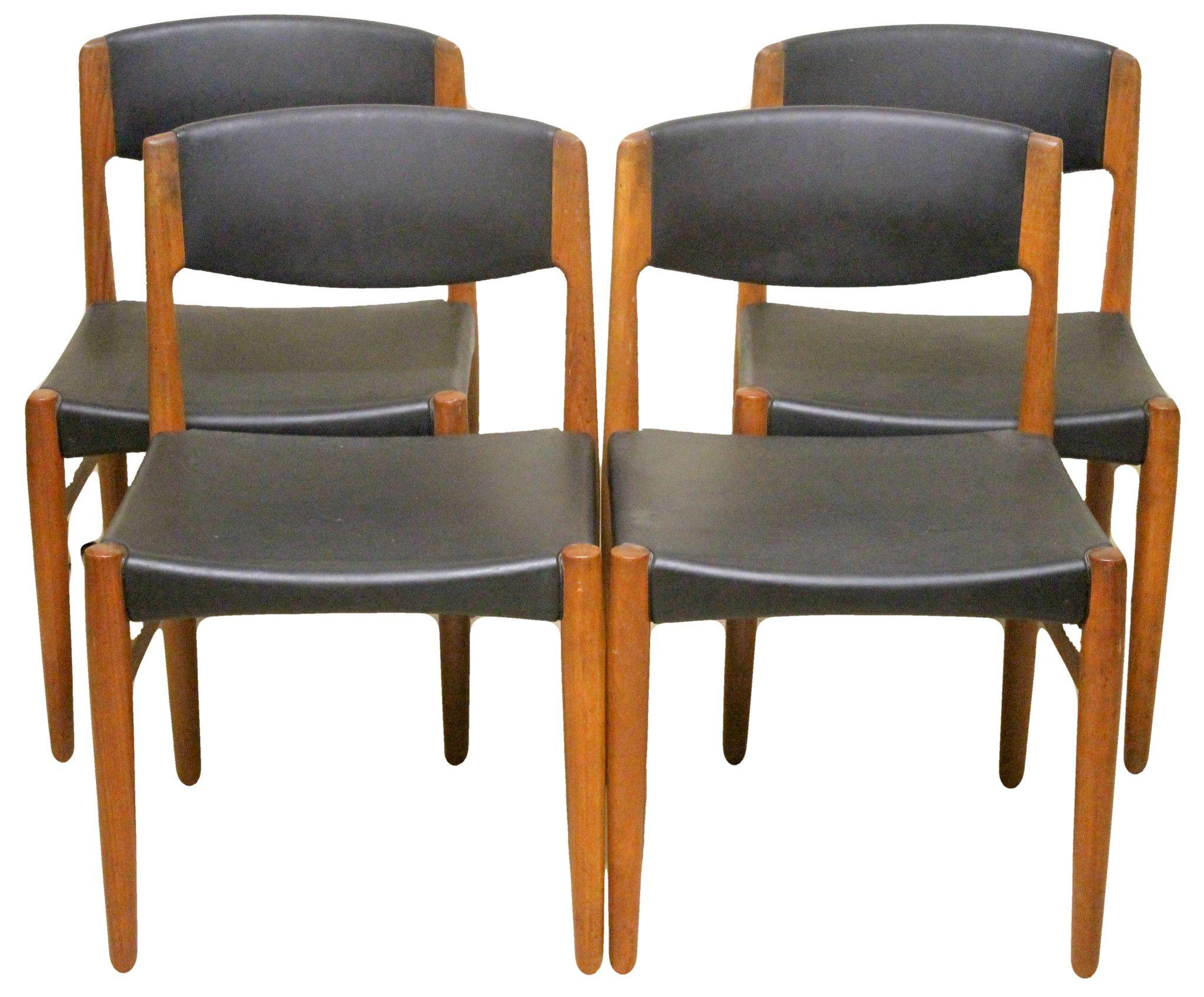 Set of Four Glostrup Mobelfabrik Mid Century Modern Dining Chair