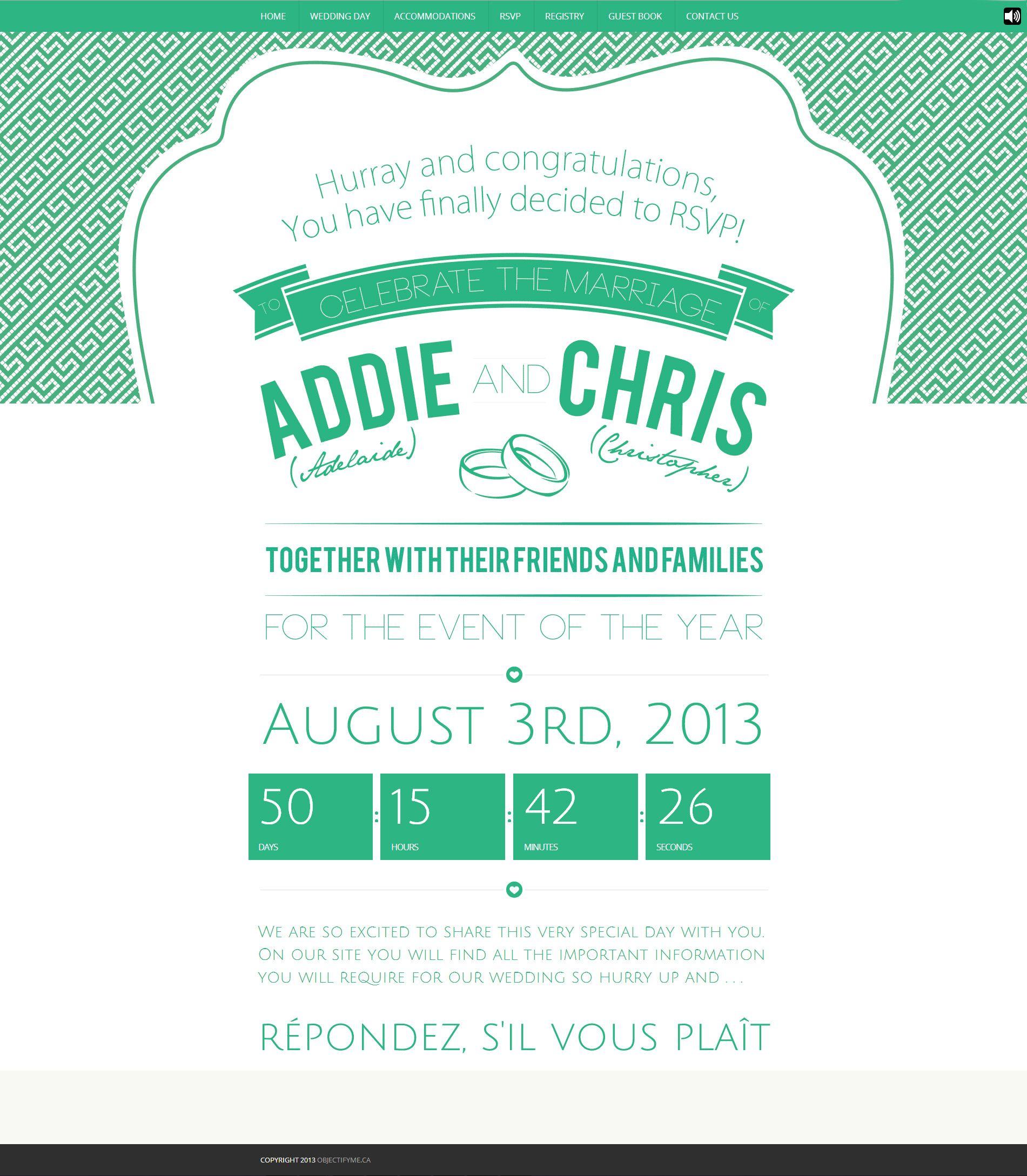 Love my wedding invitations! Objectify