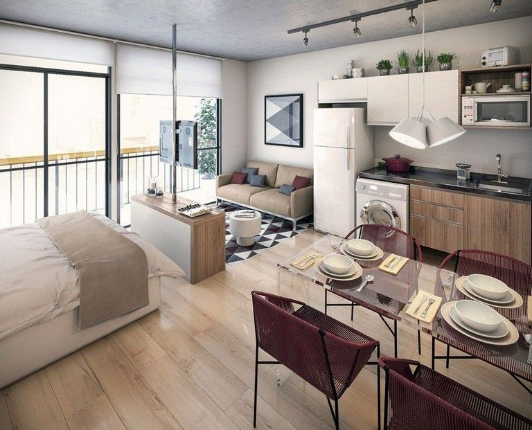 40 Amazing Apartment Decorating Ideas On A Budget Apartments Decoration Budget Apartment Interior Design Apartment Interior Small Studio Apartments