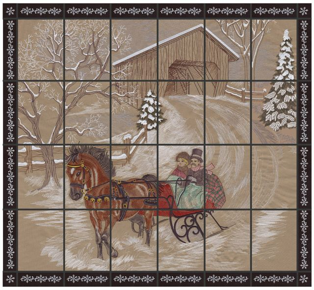 Dashing Through The Snow Oesds Most Popular Tiling Scene