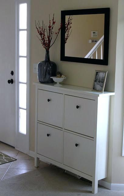 For Hats And Mittens In Entryway    IKEA HEMNES Shoe Cabinet