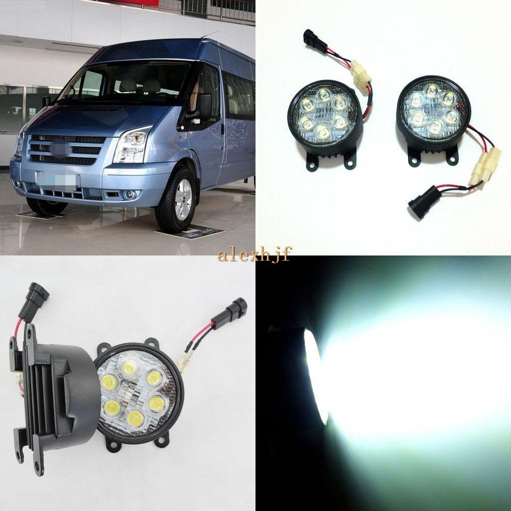 July King 18w 6leds H11 Led Fog Lamp Assembly Case For Ford Transit Mk7 2006 2015 6500k 1260lm Led Daytime Running Lights H11 Led Running Lights Fog Lamps