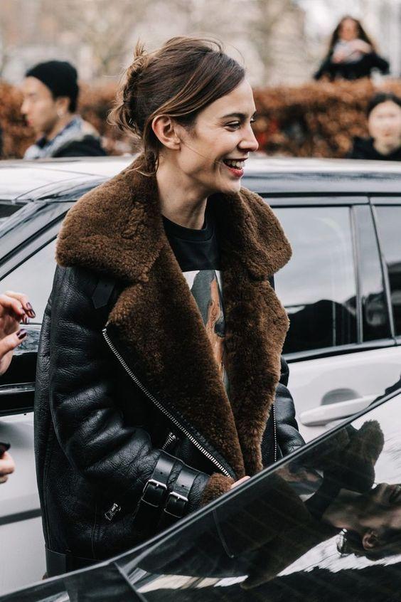 Shearling Flight Jacket Style Inspiration