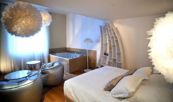 le paradis - jacuzzi double, cocon sur 2 niveaux | hôtel et