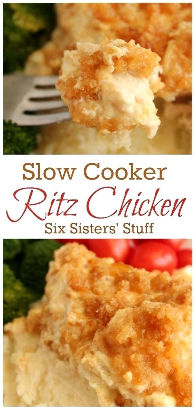 Slow Cooker Ritz Chicken #crockpotmealprep