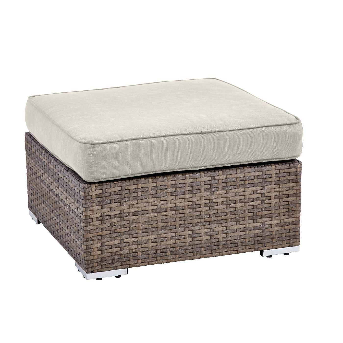 Borneo Ottoman Replacement Cushion Cover In Linen Cushions Covers Outdoor Cushions Patio Furniture Outdoor Furniture Cushions Patio Furniture Cushions