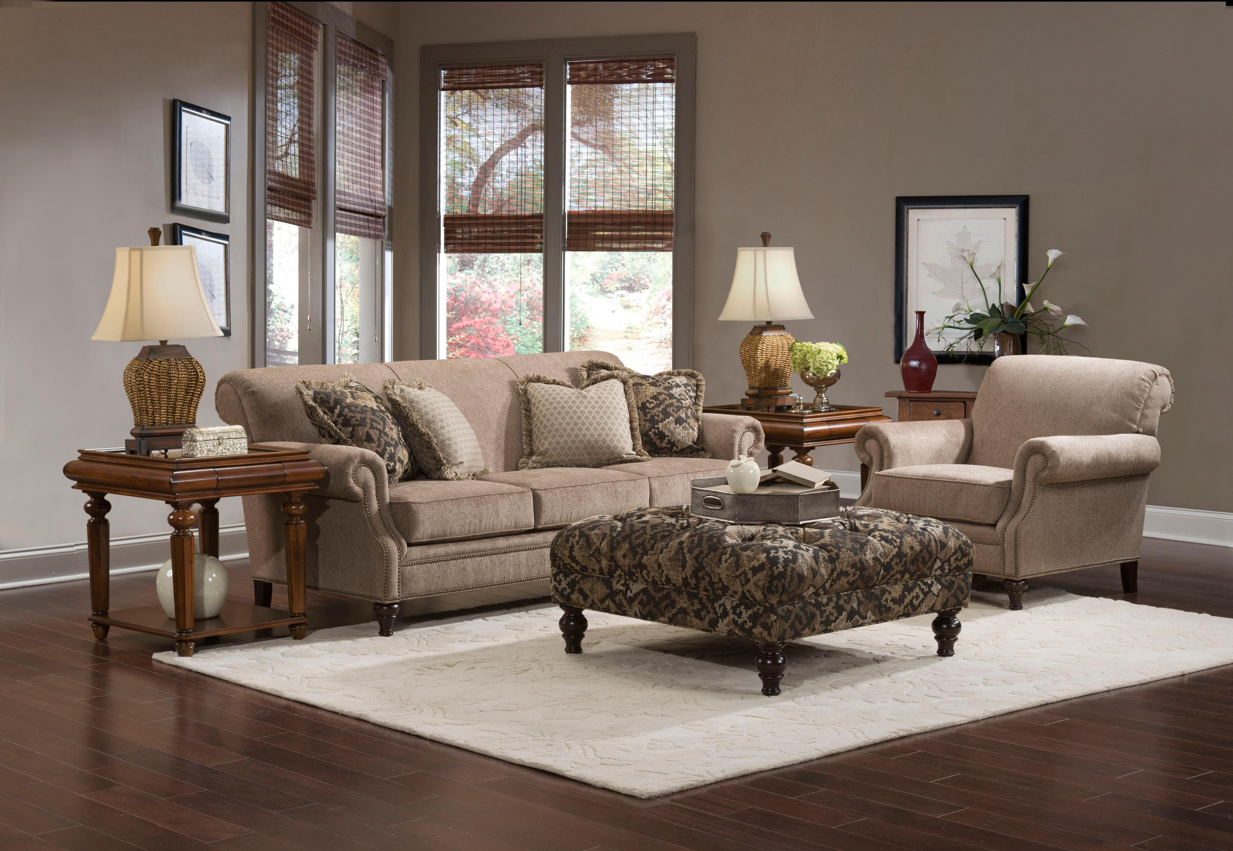 Broyhill Furniture Windsor Sofa with Rolled Arms Becker