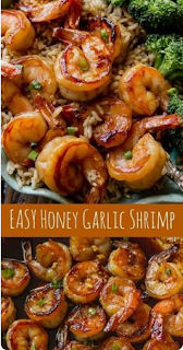 20 Minute Honey Garlic Shrimp #shrimprecipes