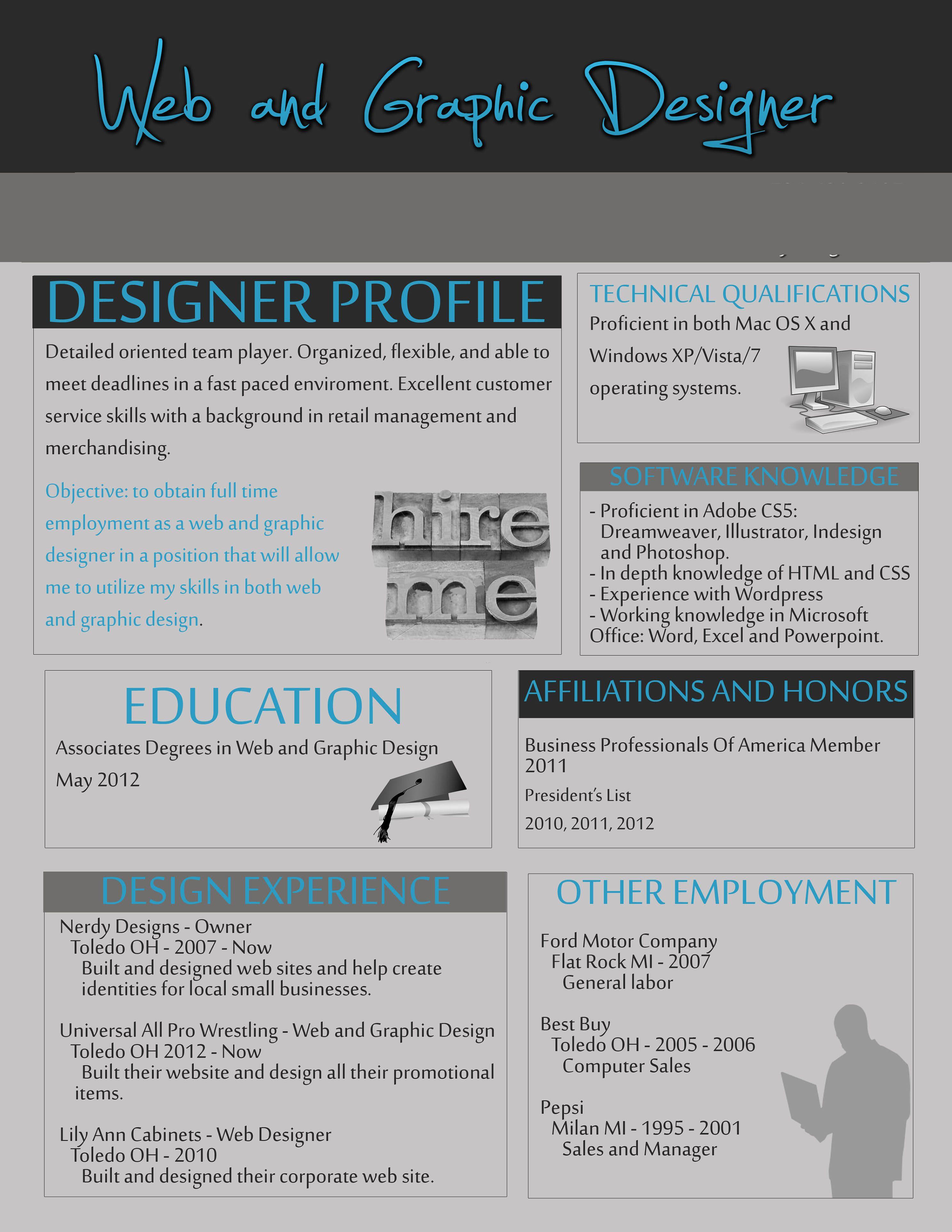 Graphic infographic graphic designer resume. http://www.nerdydesigns ...
