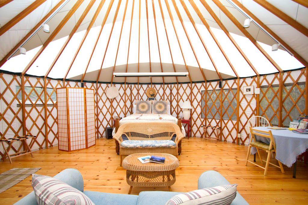 Yurt Interior With Solar Arc Yurt Living Yurt Interior Yurt