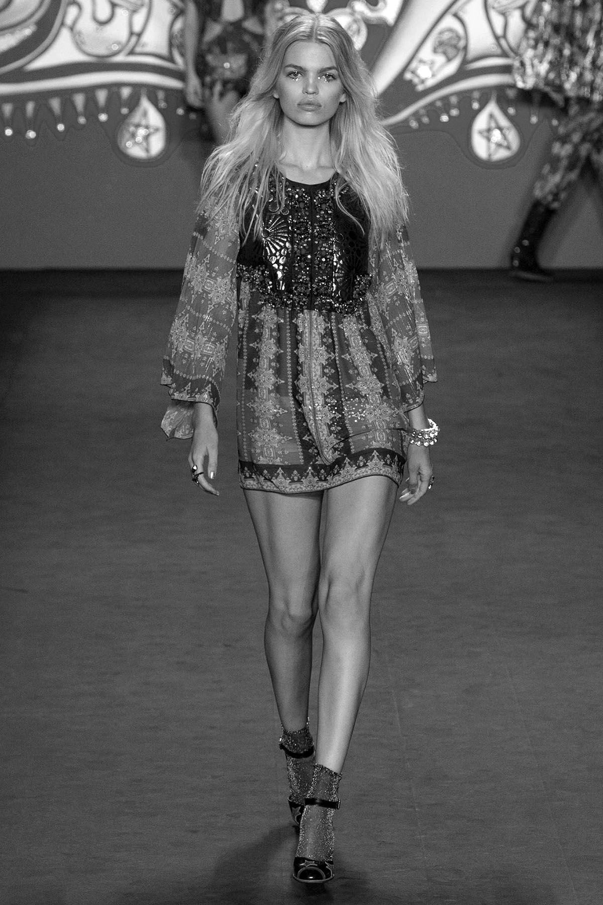 Anna Sui Spring/Summer 2015 RTW Model Daphne Groeneveld
