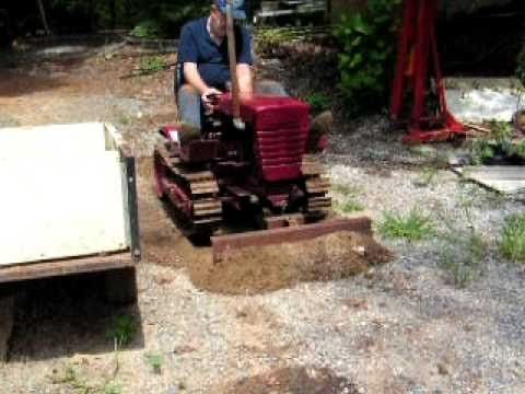 Buddys Mini Dozer From Wheelhorse Dozer Working Pushing