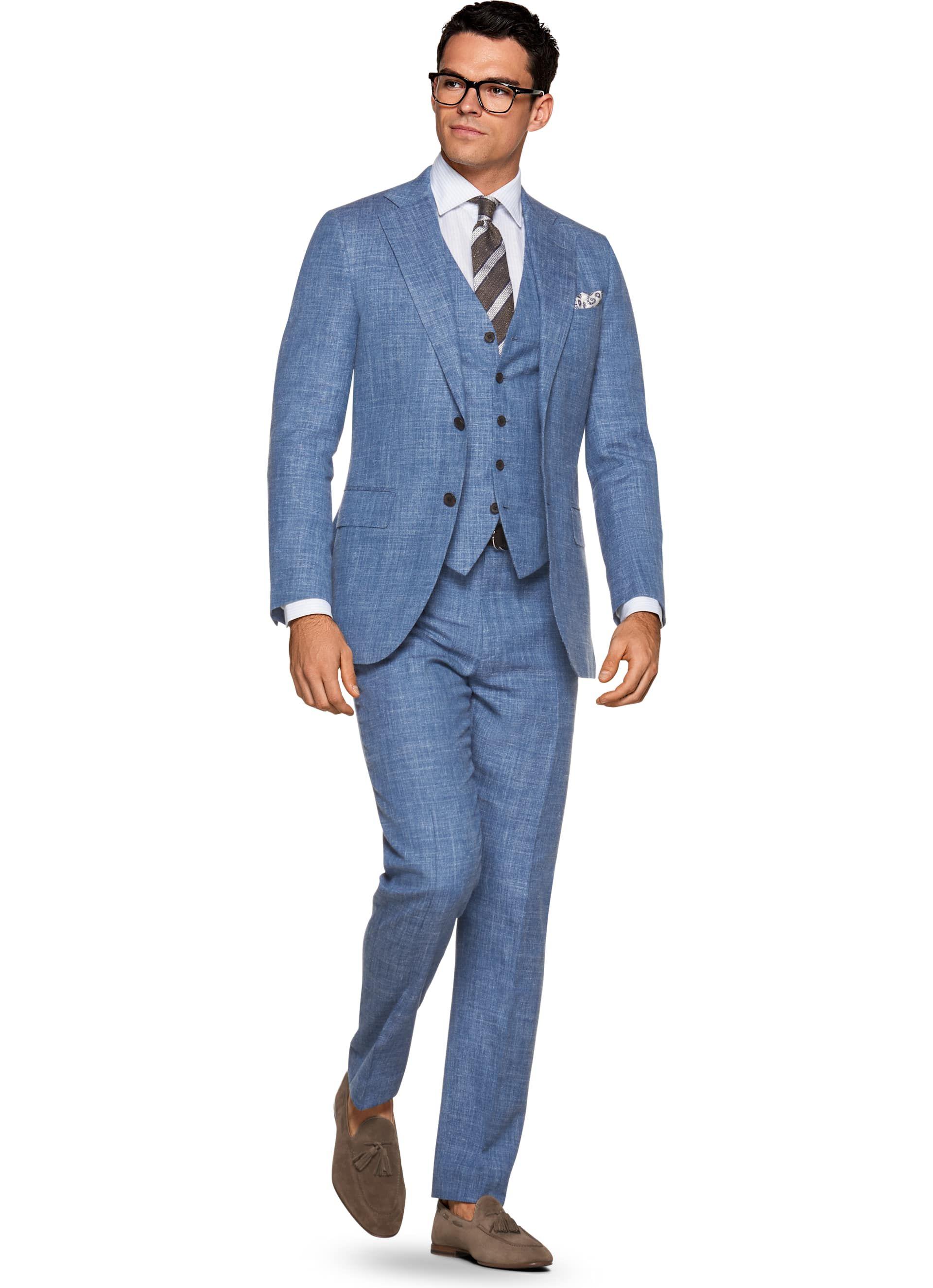 Suit Blue Plain Lazio P5427 | Suitsupply Online Store | Šedivé ...