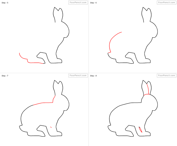 Discover ideas about hare how to draw rabbit for kids step