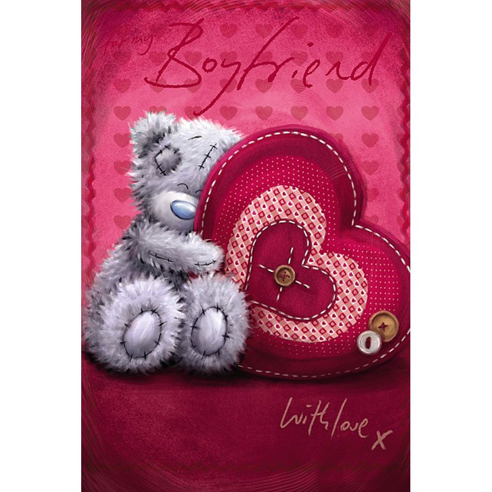 Boyfriend Me To You Bear Valentine S Day Card With Images