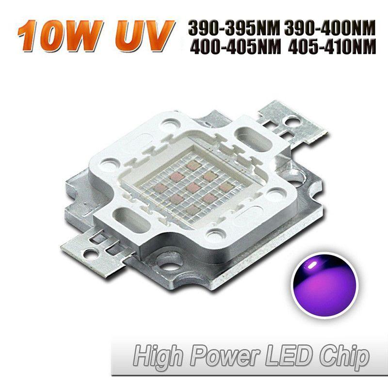 High Power 395nm 400nm 405nm 410nm 10w Uv Purple Cob Led Bead Light Diy Ultraviolet Led Chip Lamp 8 11v Diy Lamp Led Light Accessories