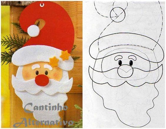 20 Moldes Papai Noel Para Imprimir Enfeites De Natal Em