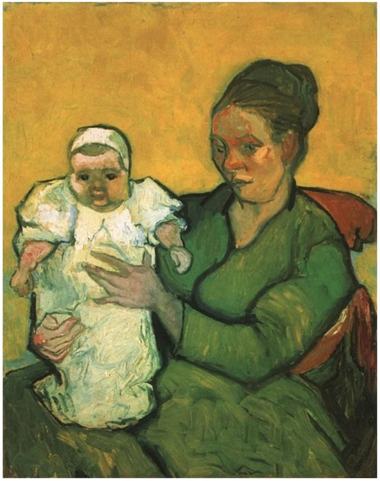 Vincent van Gogh's Mother Roulin with Her Baby Painting
