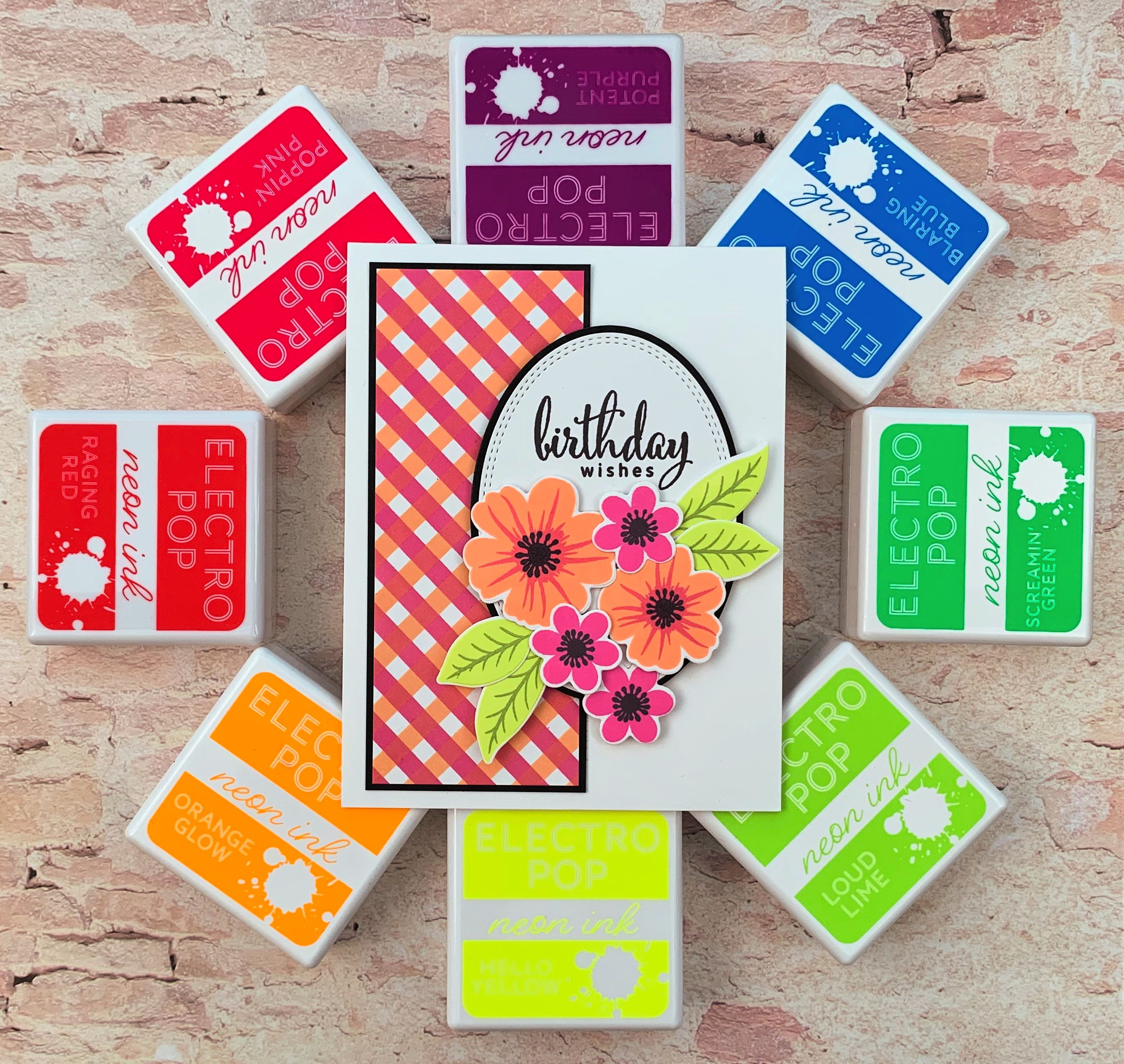 this card was made with the new pop art flowers and the